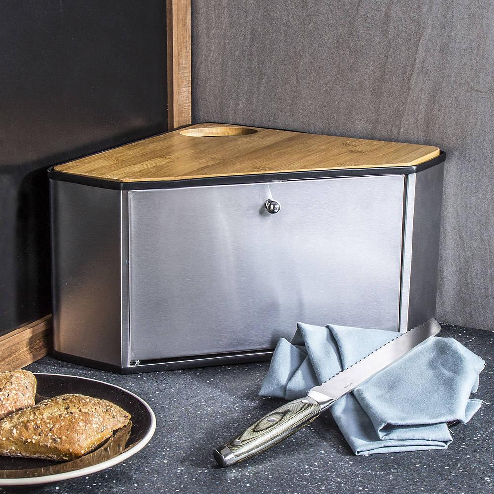 chlebak ze stali nierdzewnej z deską do krojenia i nożem mochila