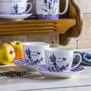 Filiżanki do kawy i herbaty Lavender