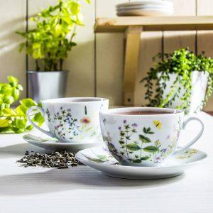 Filiżanki do kawy i herbaty dla babci i dziadka Duo Herbs