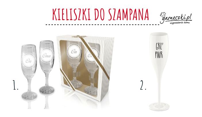 Kieliszki do szampana - małe upominki walentynkowe