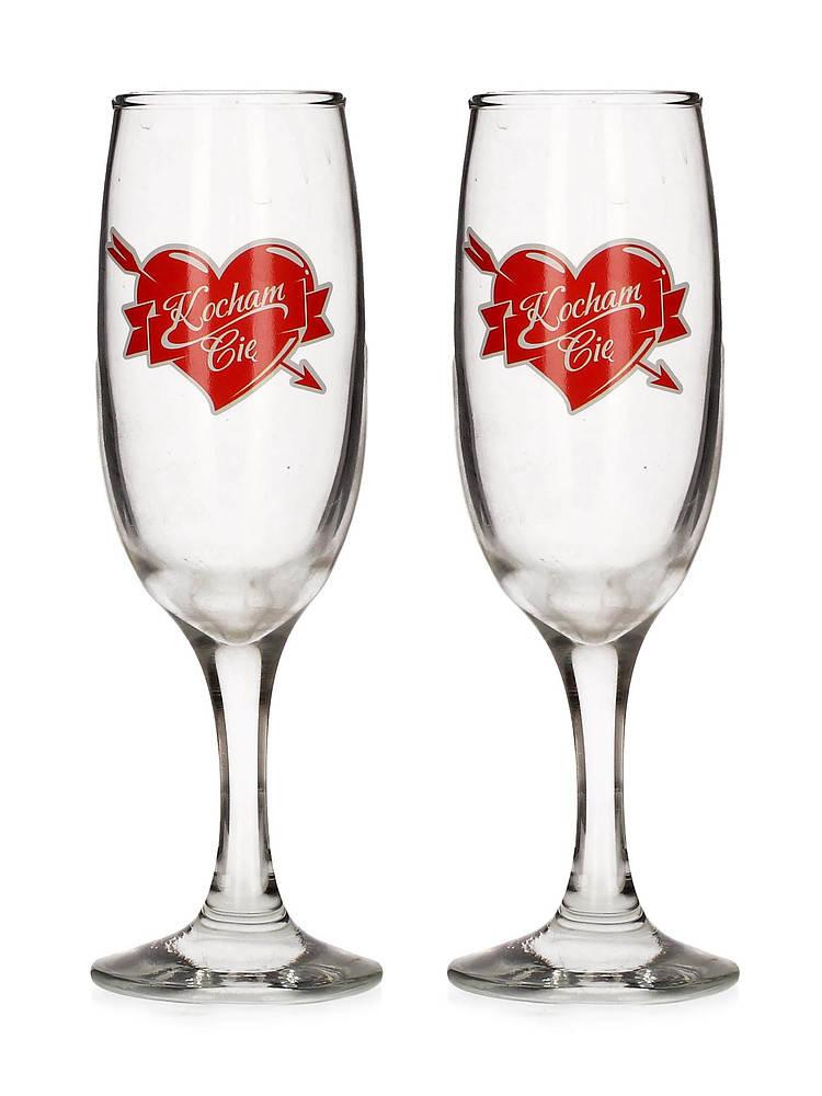 Kieliszki do szampana Serce