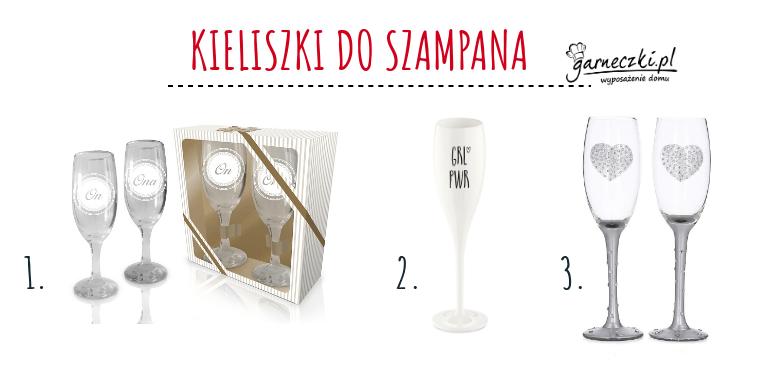 Kieliszki do szampana na walentynki