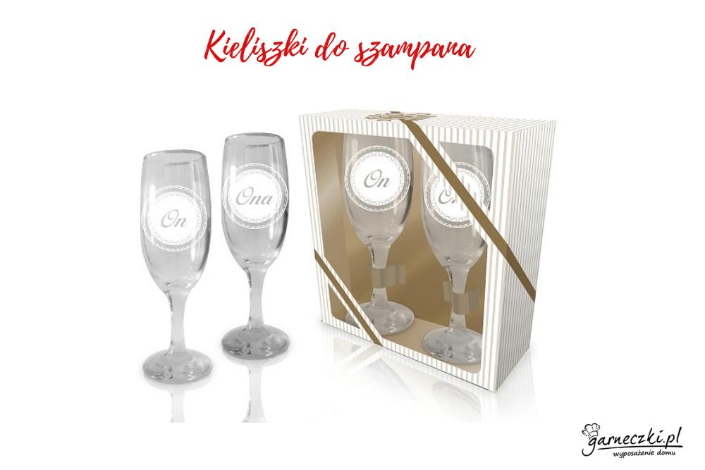Kieliszki do szampana Ona i On