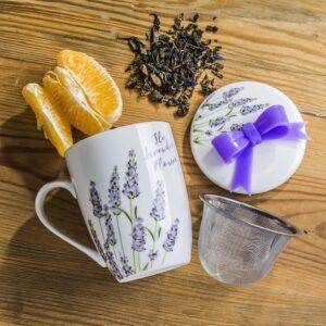 Kubek z zaparzaczem Lavender