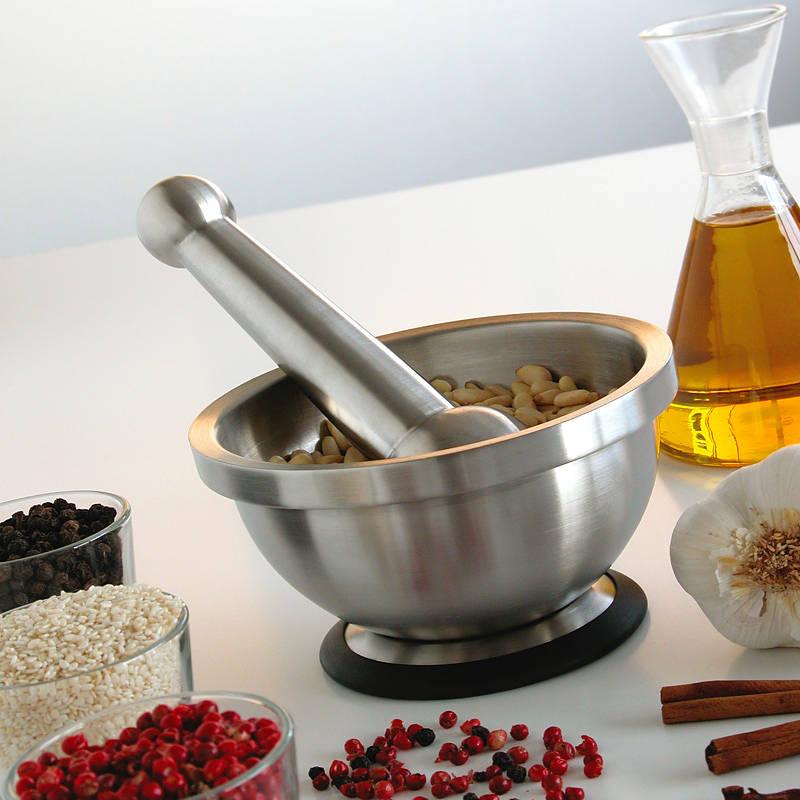 moździerz kuchenny do przypraw i ziół stalowy mastrad