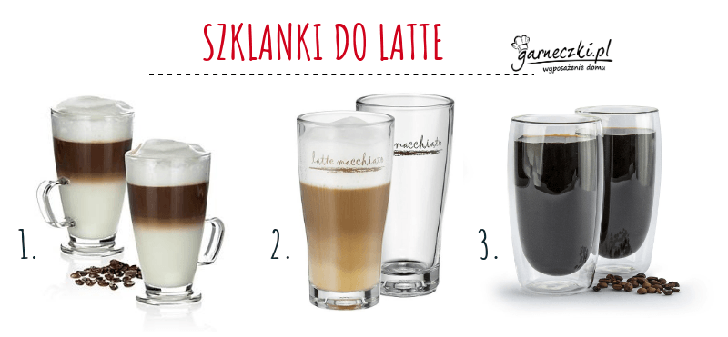 Szklanki do kawy latte