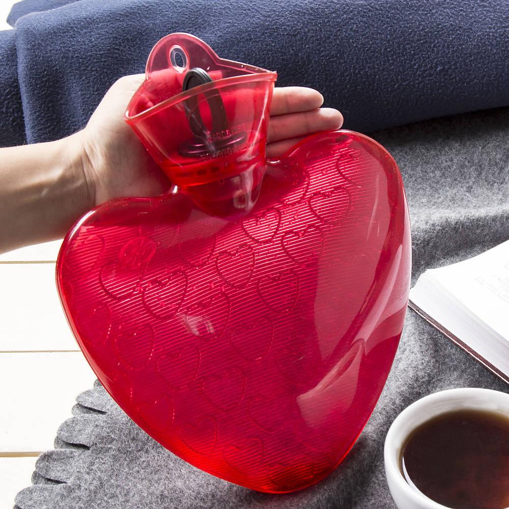 Termofor gumowy serce