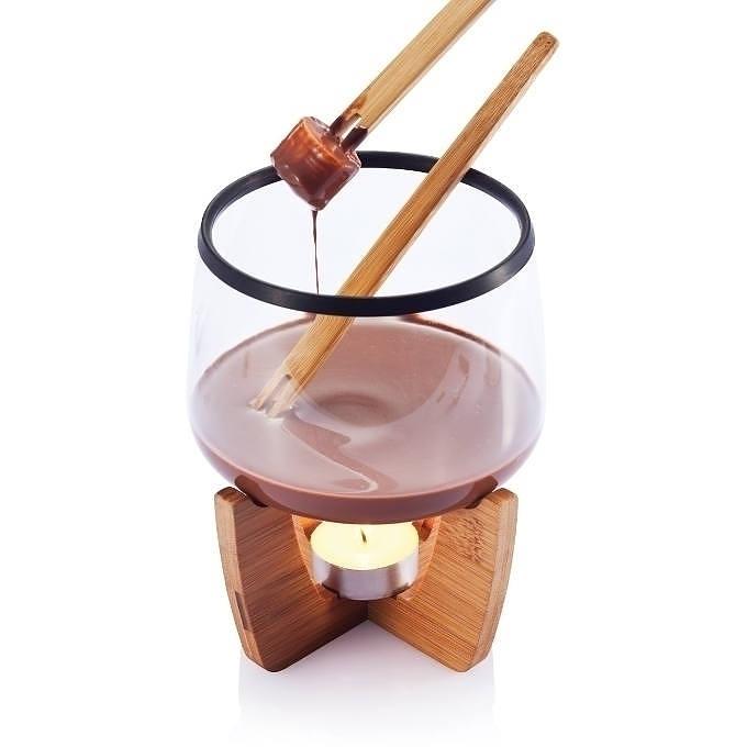 Zestaw do fondue drewniano-szklany Xddesign