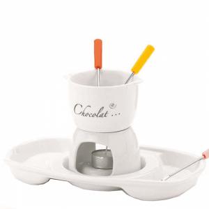 Zestaw do fondue porcelanowy Kela Praline