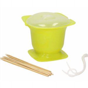 Plastikowe naczynie do domowego fondue z mikrofalówki Cuisy