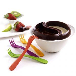 Zestaw do fondue z kuchenki mikrofalowej plastikowy Mastrad