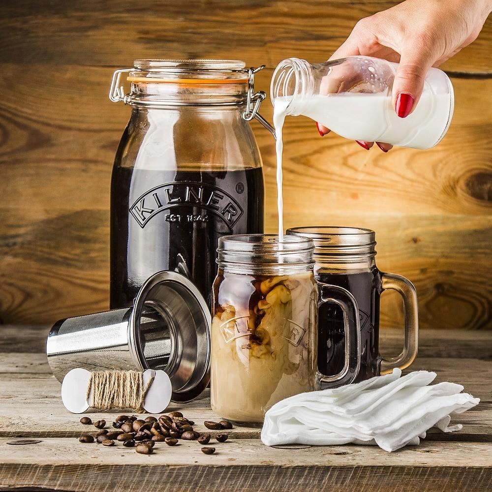 Zestaw do kawy mrożonej Kilner