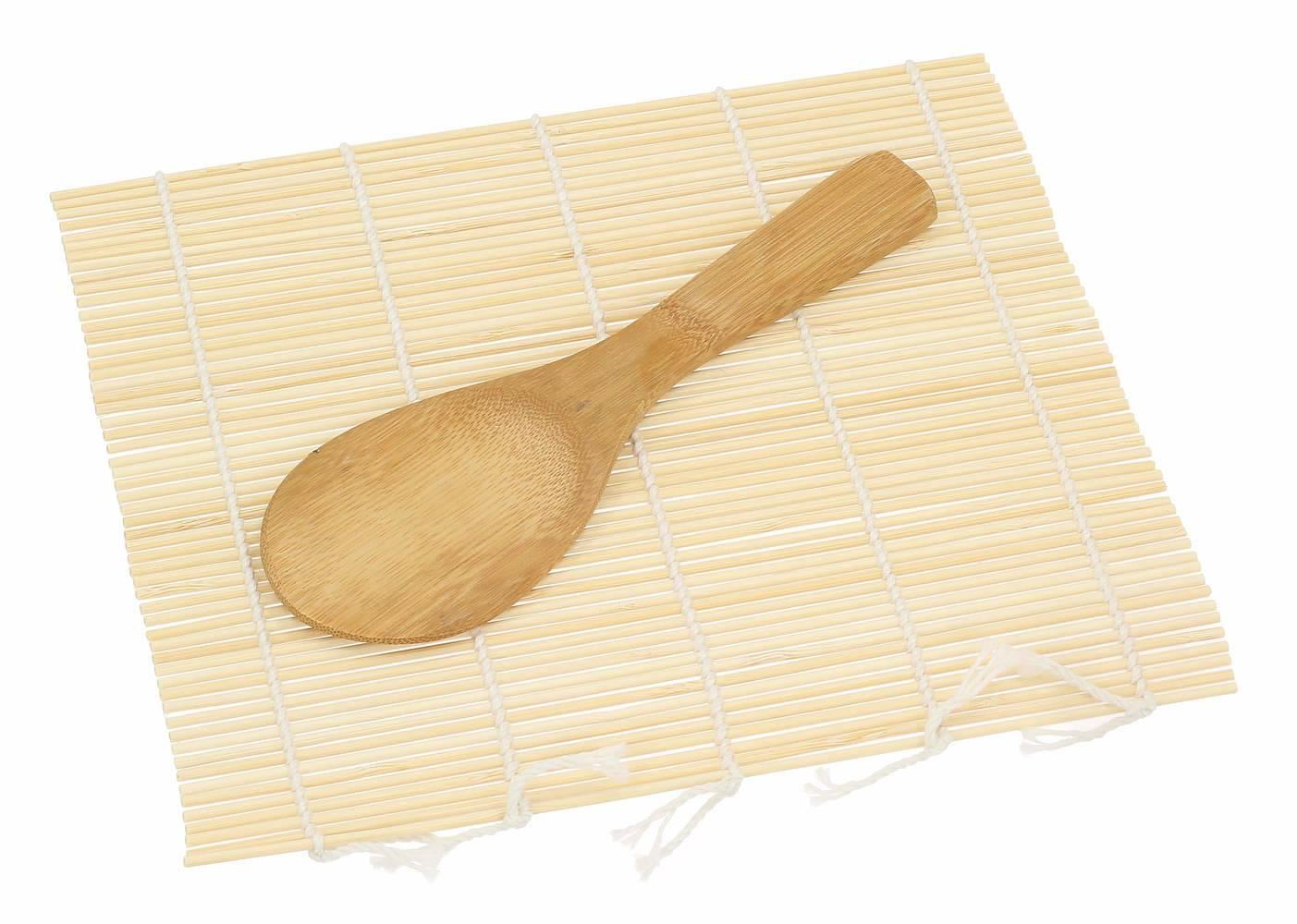 Bambusowa mata do sushi z łyżką Bambus
