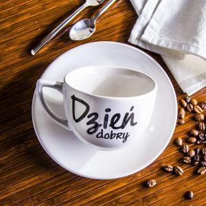 Filiżanka do kawy i herbaty Dzień Dobry