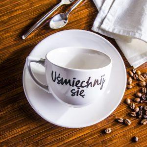 Filiżanka do kawy ceramiczna Uśmiechnij się