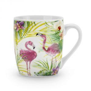 Kubek porcelanowy Flamingi