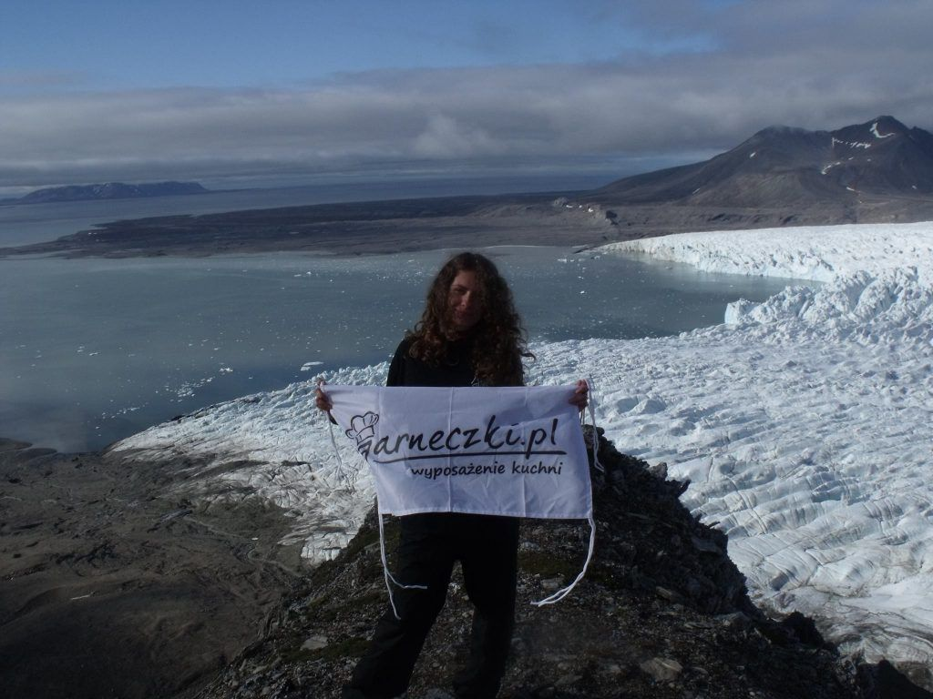 Flaga Garneczków na Spitsbergen