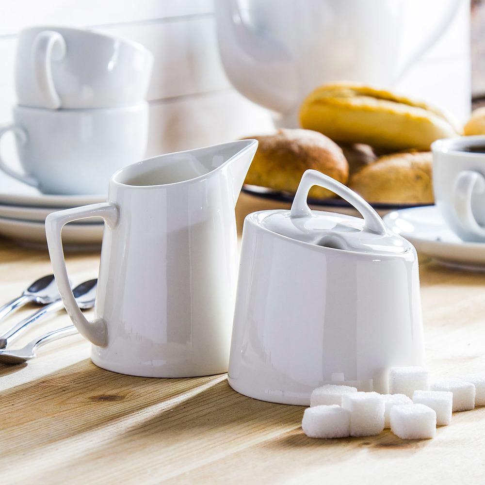 Cukiernica i mlecznik porcelanowe Vialli Design