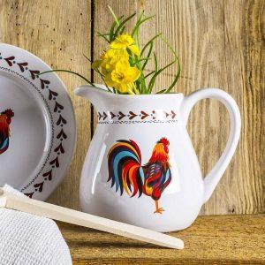 Dzbanek ceramiczny do mleka Kogucik