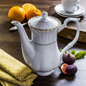 Dzbanek do kawy i herbaty porcelanowy Chodzież