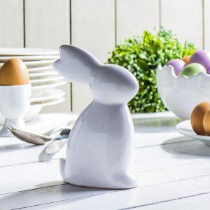 Figurka ozdobna ceramiczna Zając