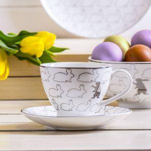 Filiżanka do kawy i herbaty ceramiczna Zajączek