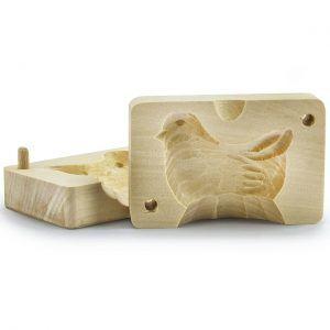 Forma do masła drewniana Kurczak