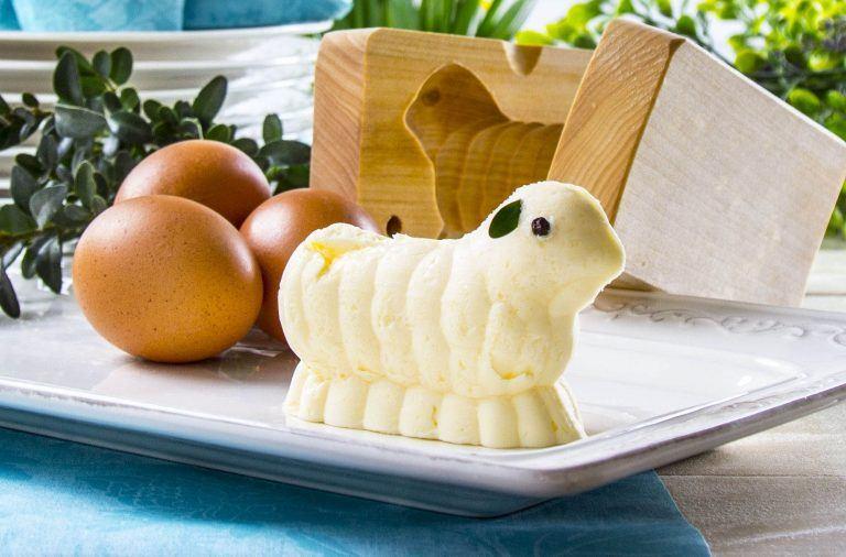 jak zrobić baranka z masła w drewnianej formie