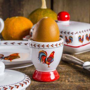 Kieliszek na jajko ceramiczny Dumny Kogucik