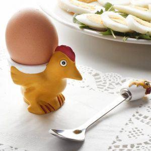 Kieliszek na jajka z łyżeczką Fackelmann Family