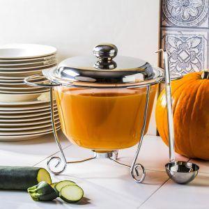 Naczynie żaroodporne do zupy z podgrzewaczem