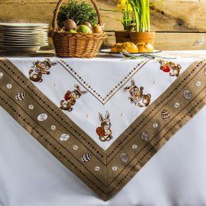 Obrus na stół wielkanocny Zajączek