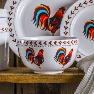 Salaterka ceramiczna Dumny Kogucik