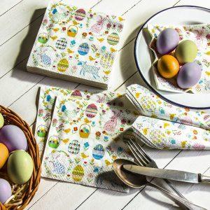 Serwetki wielkanocne papierowe Paw Easter