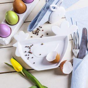 Talerz dekoracyjny ceramiczny Kurka