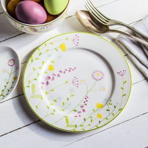 Talerz deserowy ceramiczny Polne Kwiaty