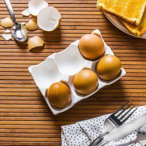 Talerz na jajka porcelanowy