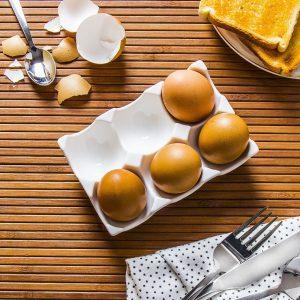 Talerz na jajka porcelanowy Uvum