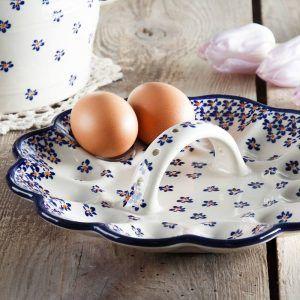 Talerzyk ceramiczny na jajka Bolesławiec