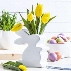 Wazon na kwiaty ceramiczny Zając