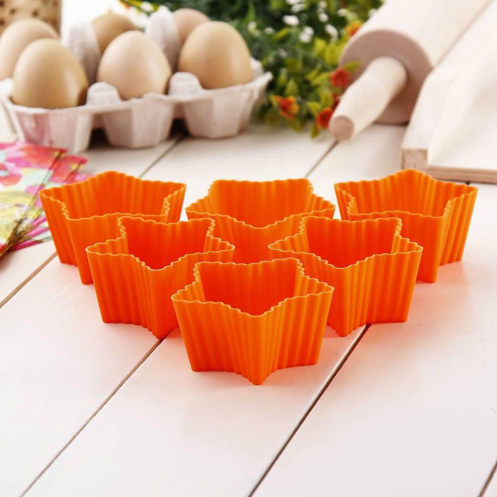 Foremki silikonowe do muffinek Silikomart Orange