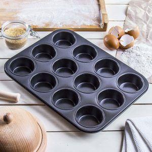 Forma do 12 muffinek Grey