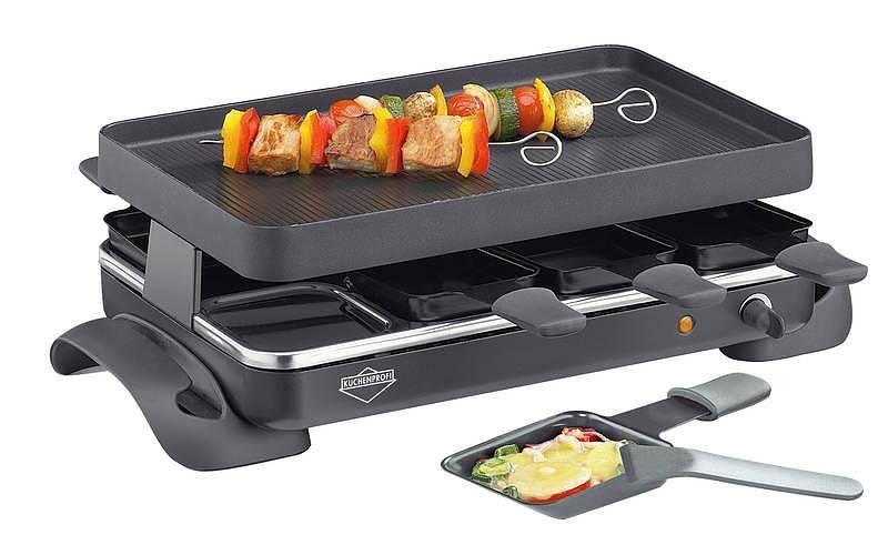 Grill elektryczny raclette z mini patelniami Kuchenprogi Grande