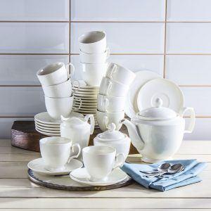 Serwis kawowy porcelanowy Karolina Simple