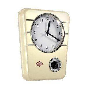 Zegar ścienny stalowy Wesco