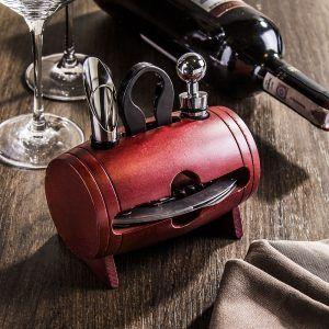 Zestaw akcesoriów do wina ze stali Konighoffer Barrel