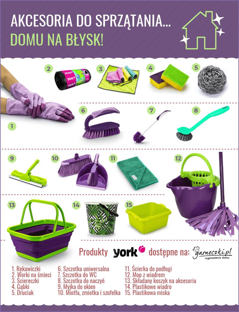 Zestaw do sprzątania domu - infografika