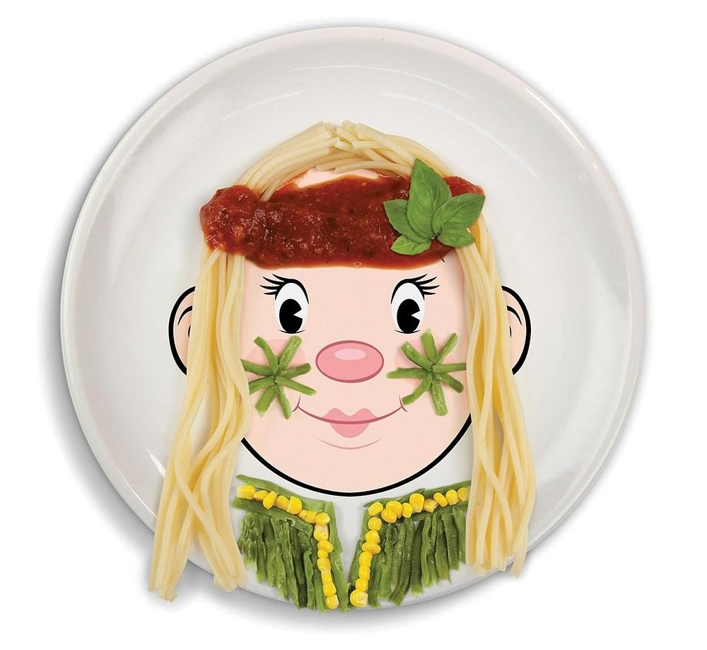Talerz obiadowy ceramiczny Invotis Face Girl