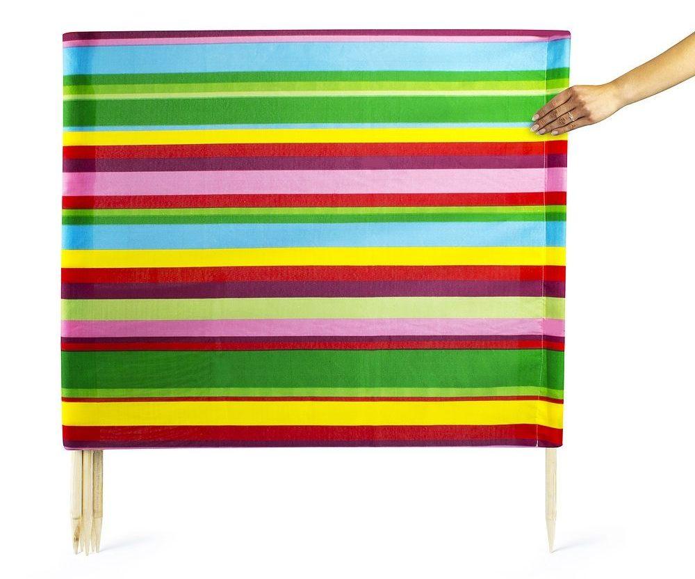 Parawan plażowy z kieszonką Rainbow