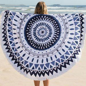 Ręcznik plażowy okrągły Mandala